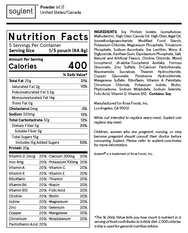 Soylent Ingredients