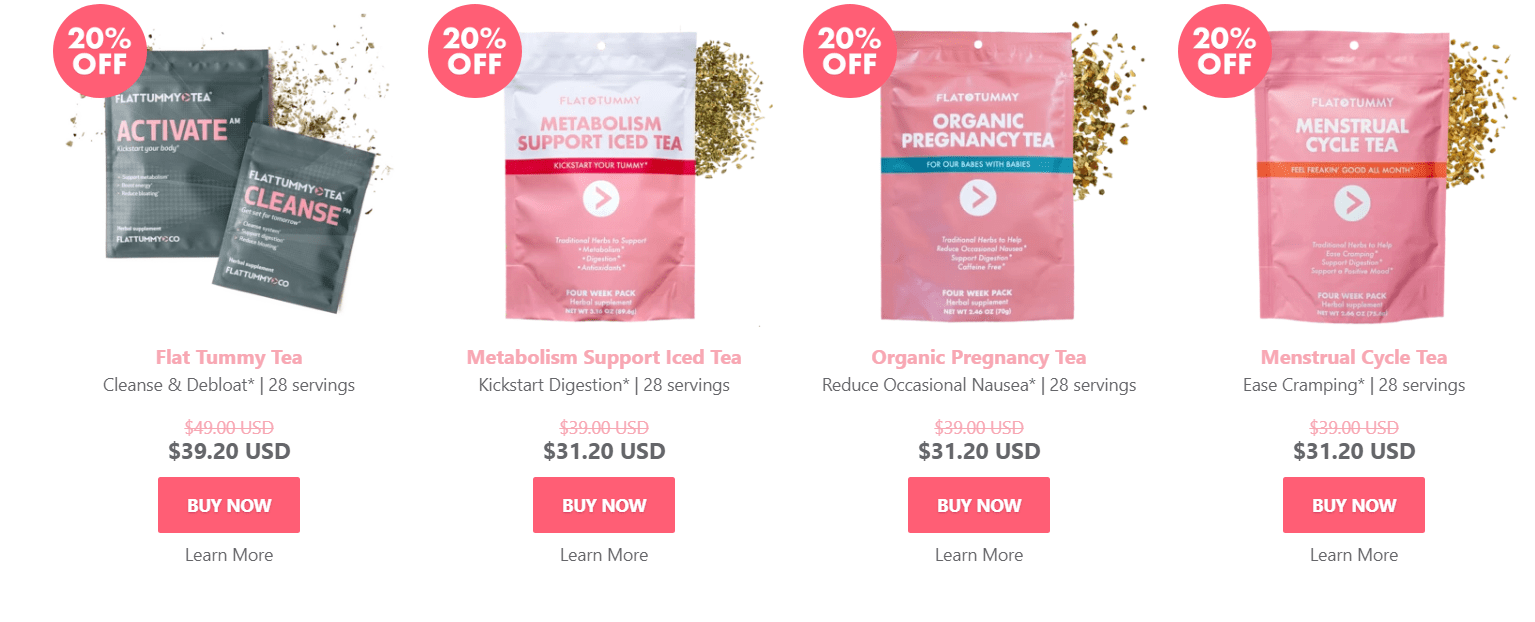 fitness tea pricing