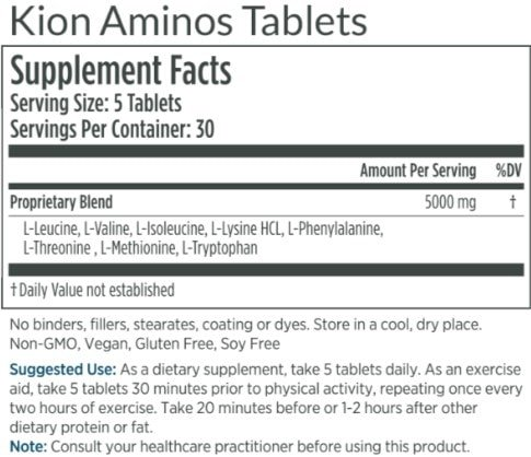 Kion Aminos Review ingredients