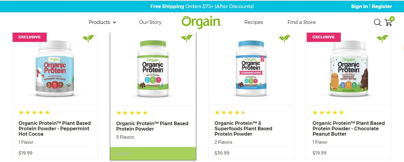 Orgain Pricing