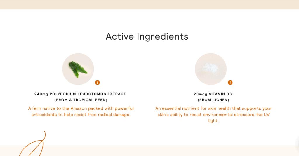 Sundaily Ingredients
