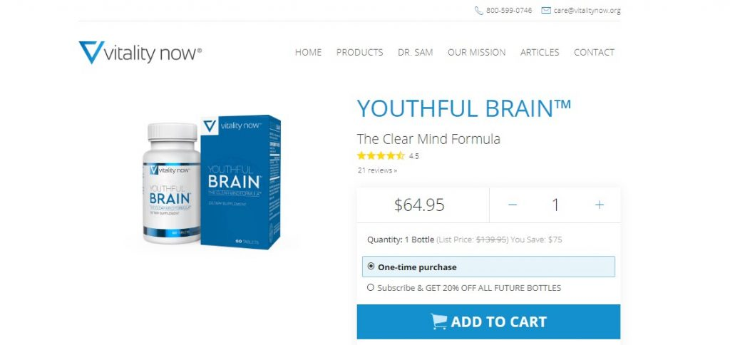 Youthful Brain price