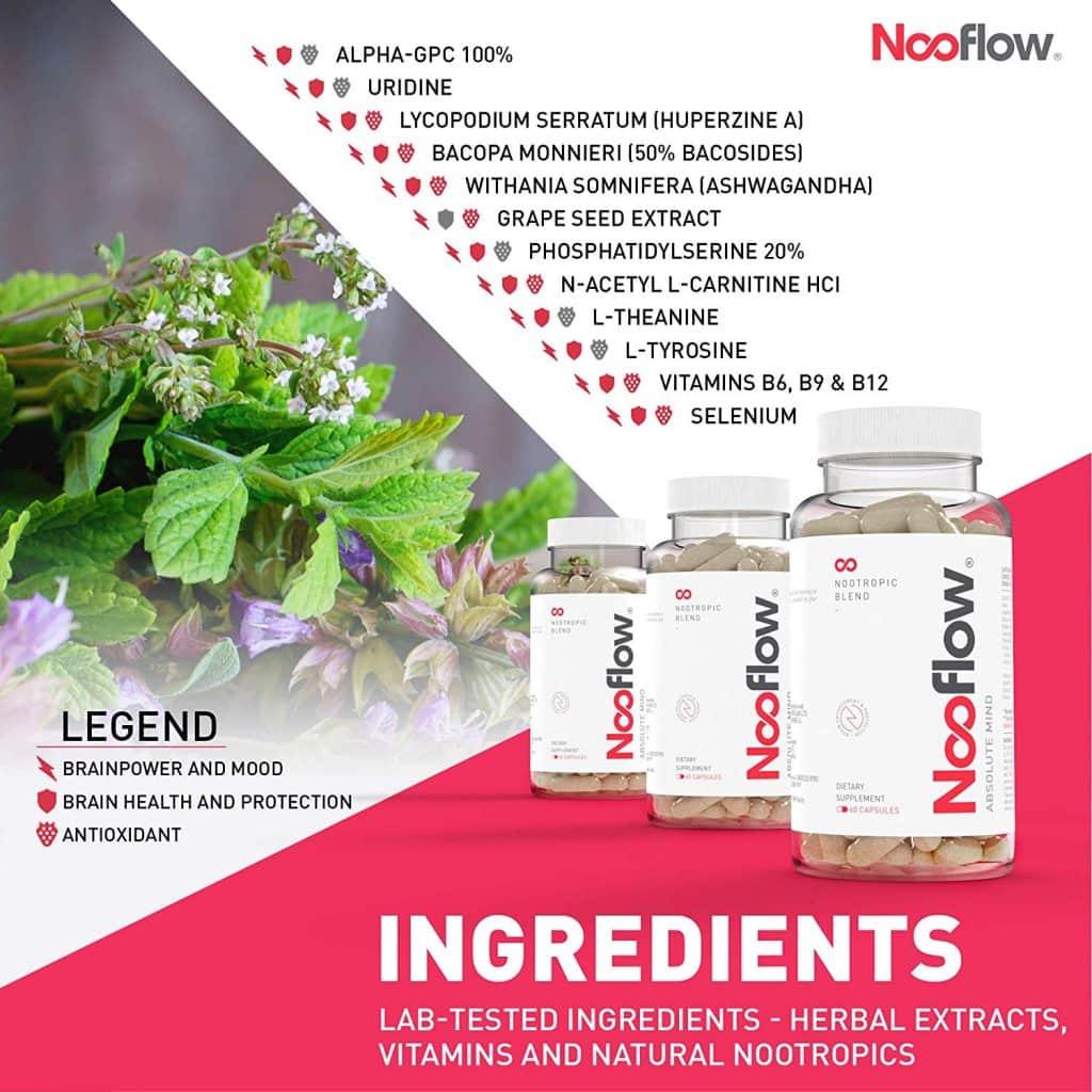 Nooflow Absolute Mind Ingredients