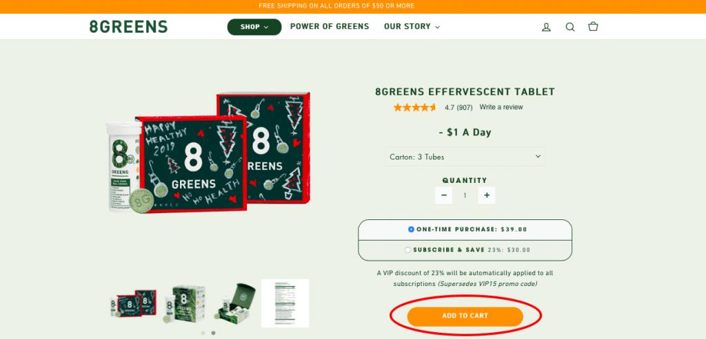 8Greens Website