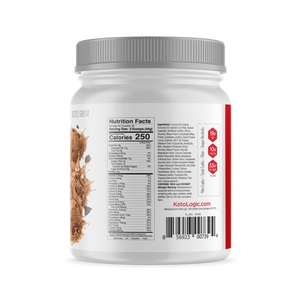 KetoLogic KetoMeal Nutrition Facts
