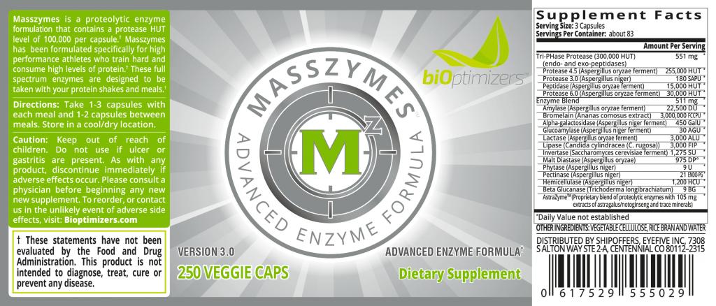 MassZymes Formula Label