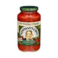 Newman's Own pasta sauce