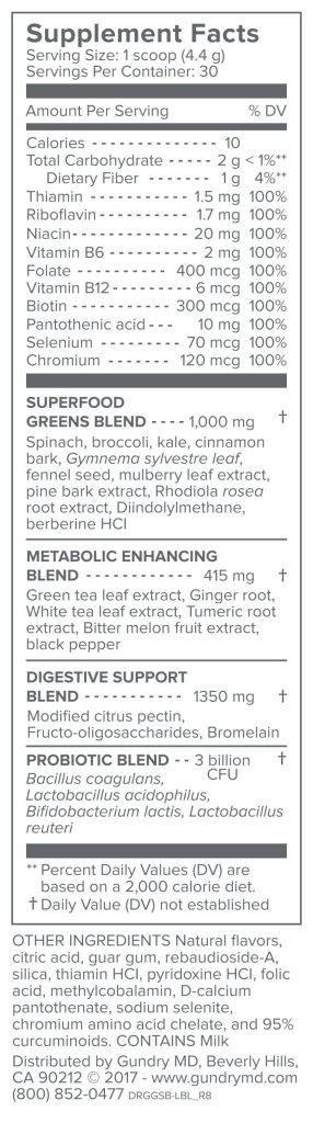 Gundry MD Primal Plants Ingredients