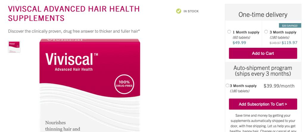 Viviscal hair Vitamin Website