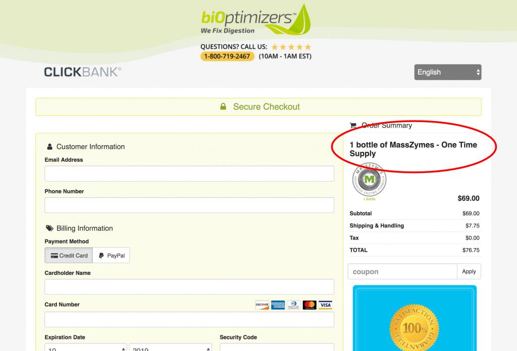 MassZymes Website Purchase