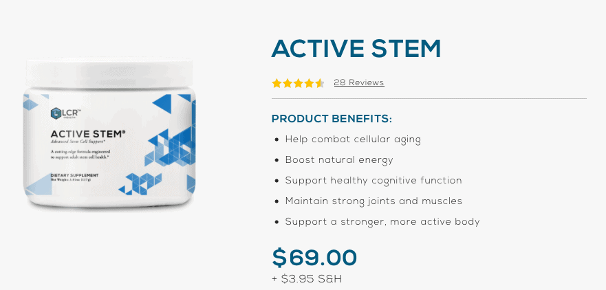 Active Stem cost Website