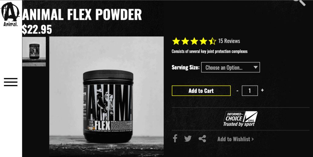 Animal Flex Powder Website