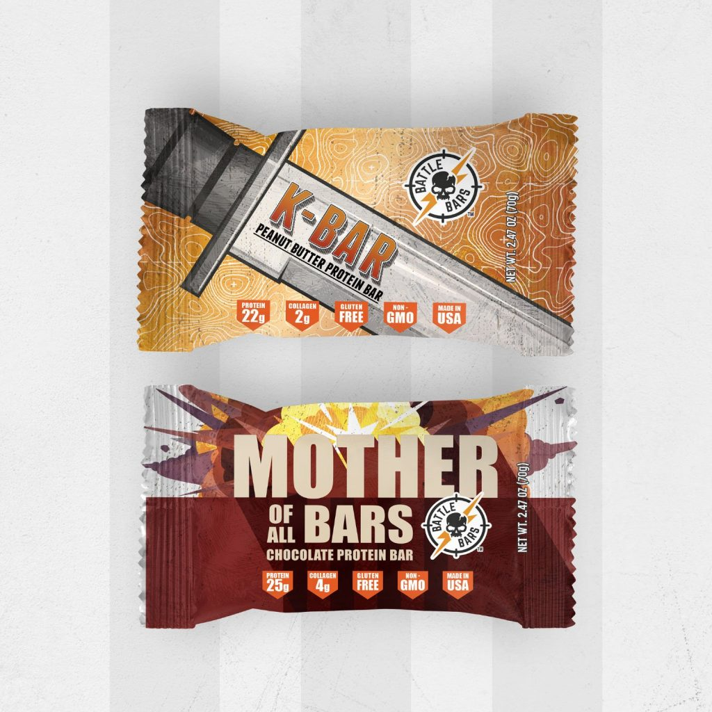 Battle Bars Protein Bar Chocolate and peanut butter combo