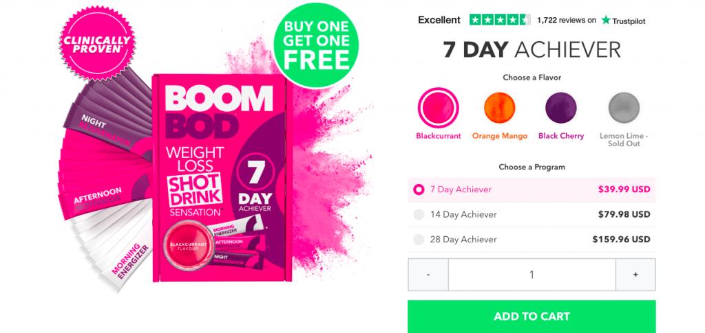 BoomBod Weight Loss Drink Website