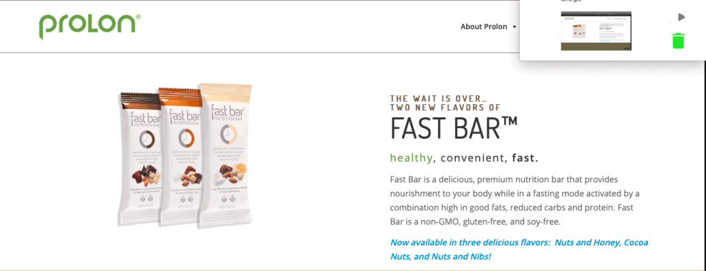Fast Bar Nutrition Bars Website