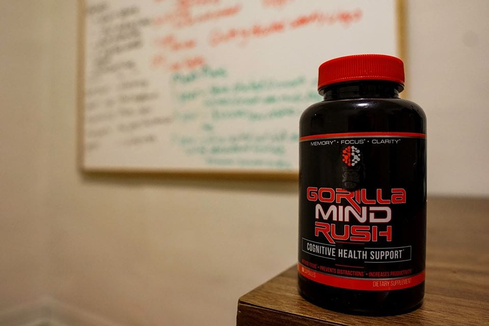 Gorilla Mind Rush Nootropic-Bottle