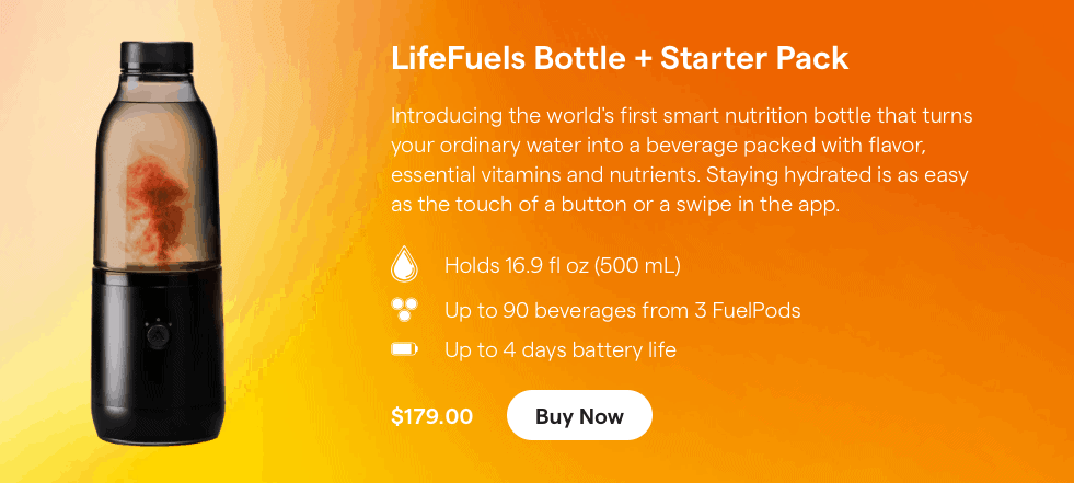 Lifefuels Smart Bottles product website