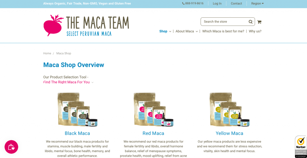 Maca Team Website