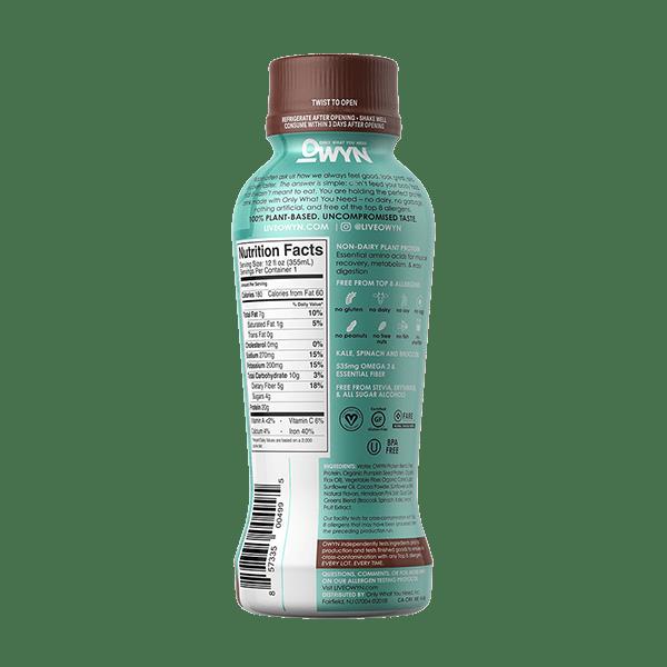 Owyn Vegan Protein Shake Label