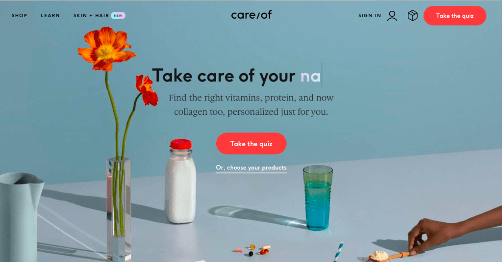 Care of Personalized Daily Vitamin Packs Quiz