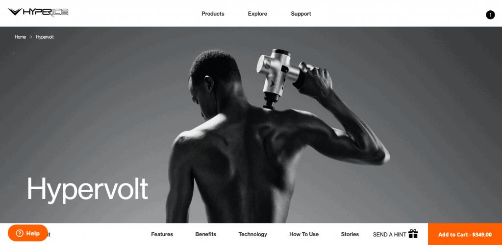 Hypervolt Website
