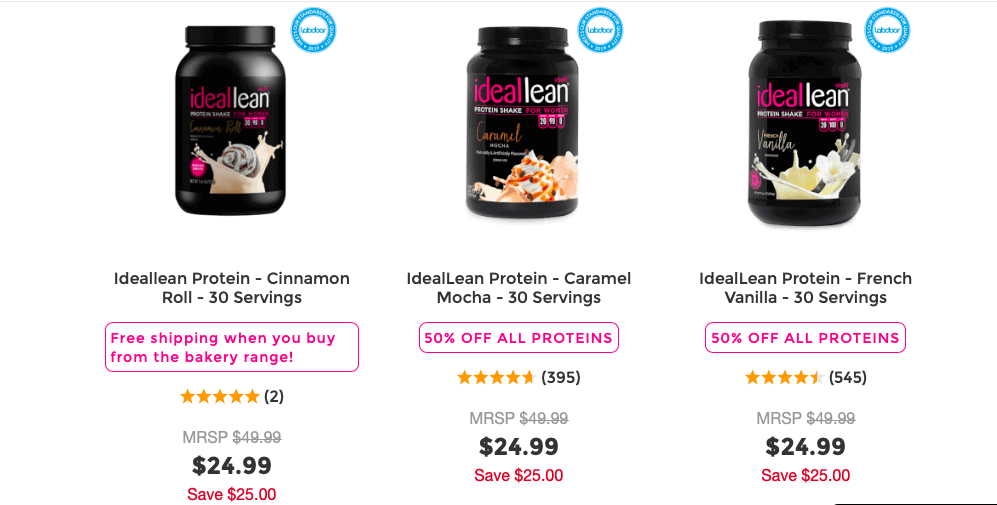 IdealLean Protein Powder Website