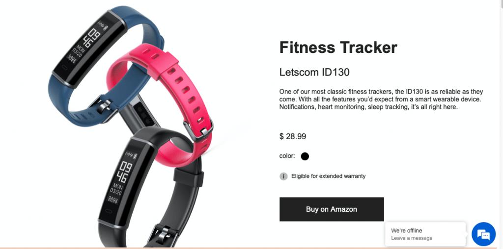 LETSCOM Fitness Tracker Website