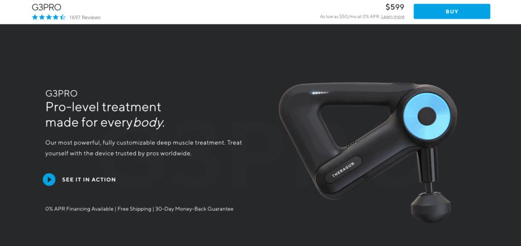 Theragun G3Pro Website