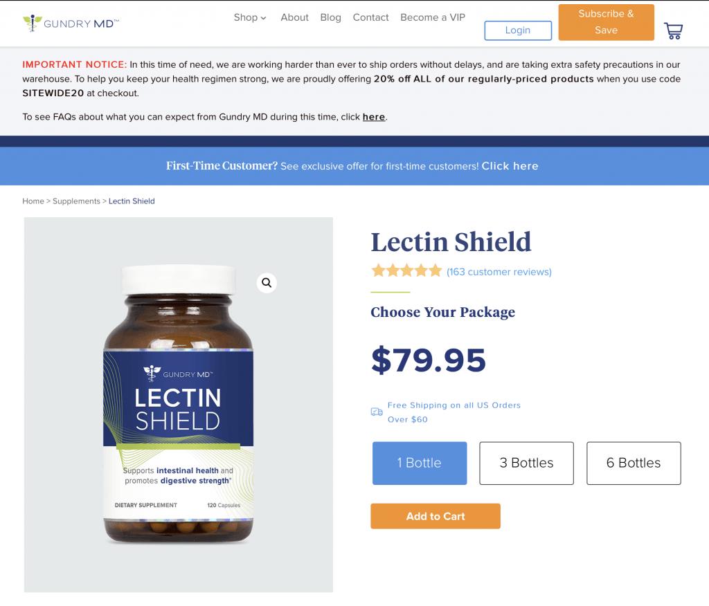 Lectin Shield Website
