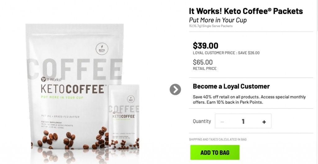 It Works Keto Coffee Website