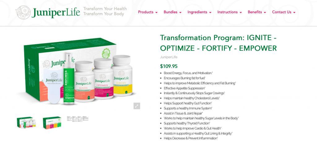 Juniper Life Transformation Program Website