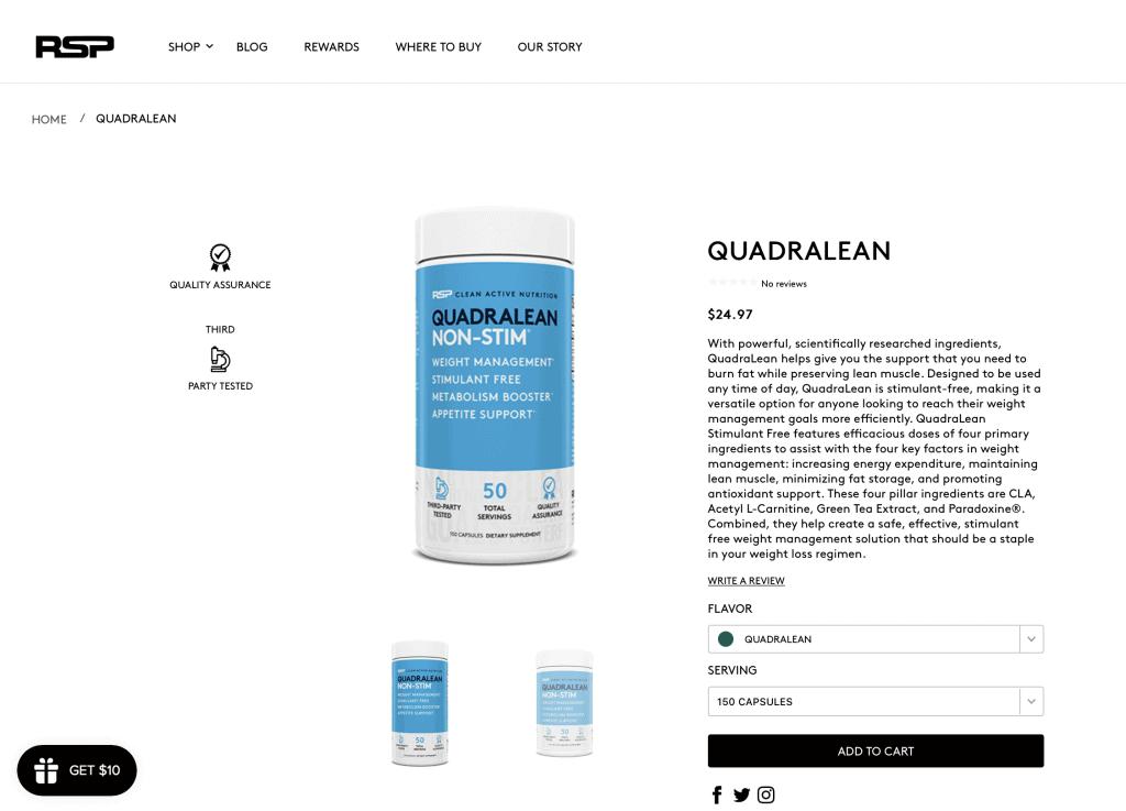Quadralean Website