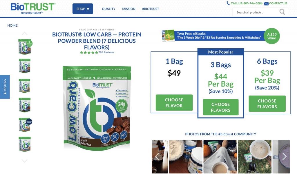 BioTrust Protein Powder Cost