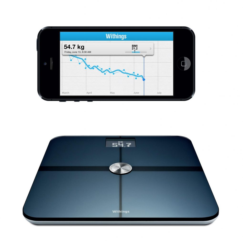 Body + Composition Wi-Fi Scale on phone