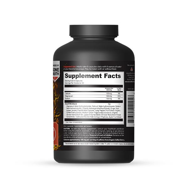 KetoFIRE Bottle Supplement Facts