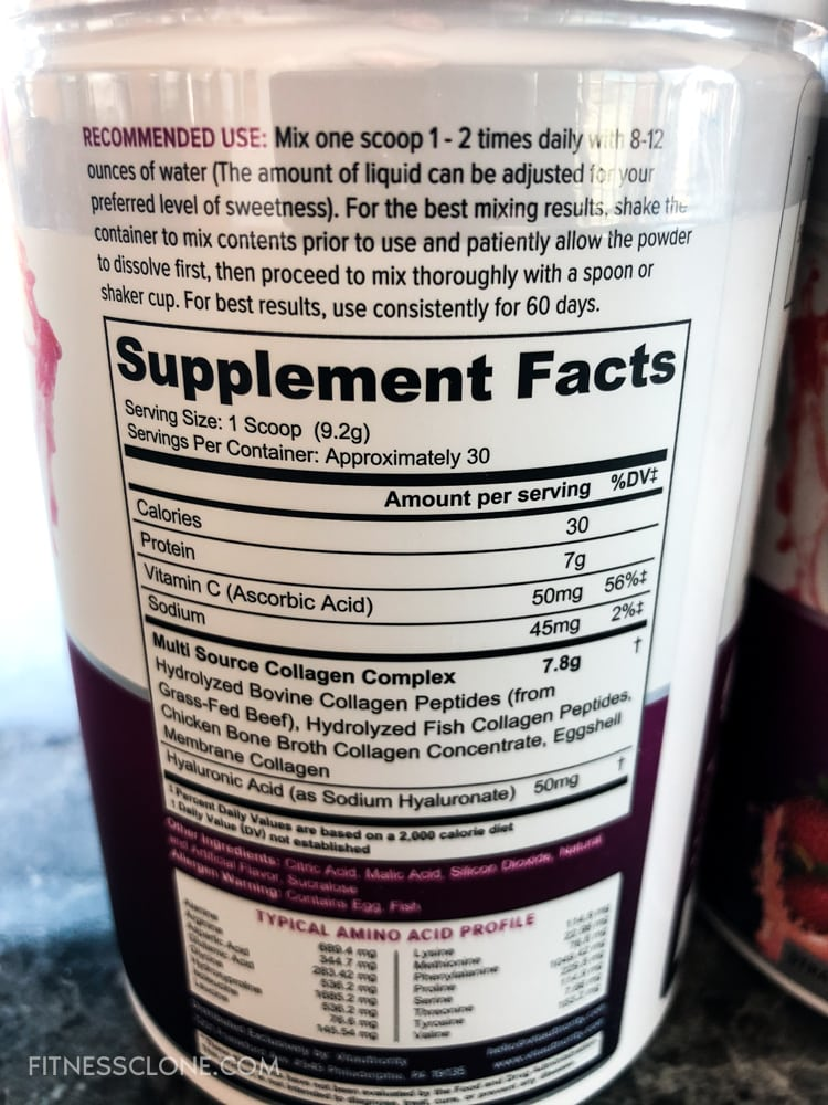 Vitauthority Multi Collagen Peptides Supplement Facts