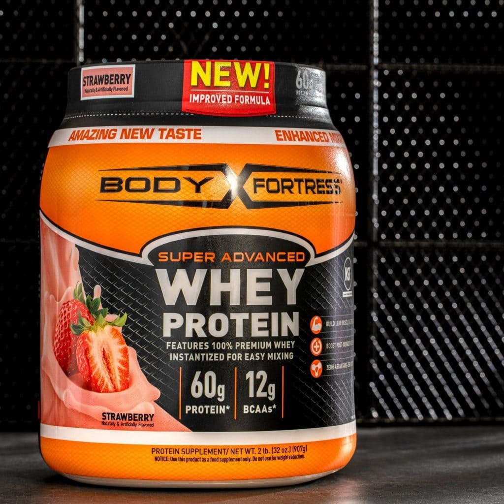 Body Fortress Super Advanced Whey Protein bottle