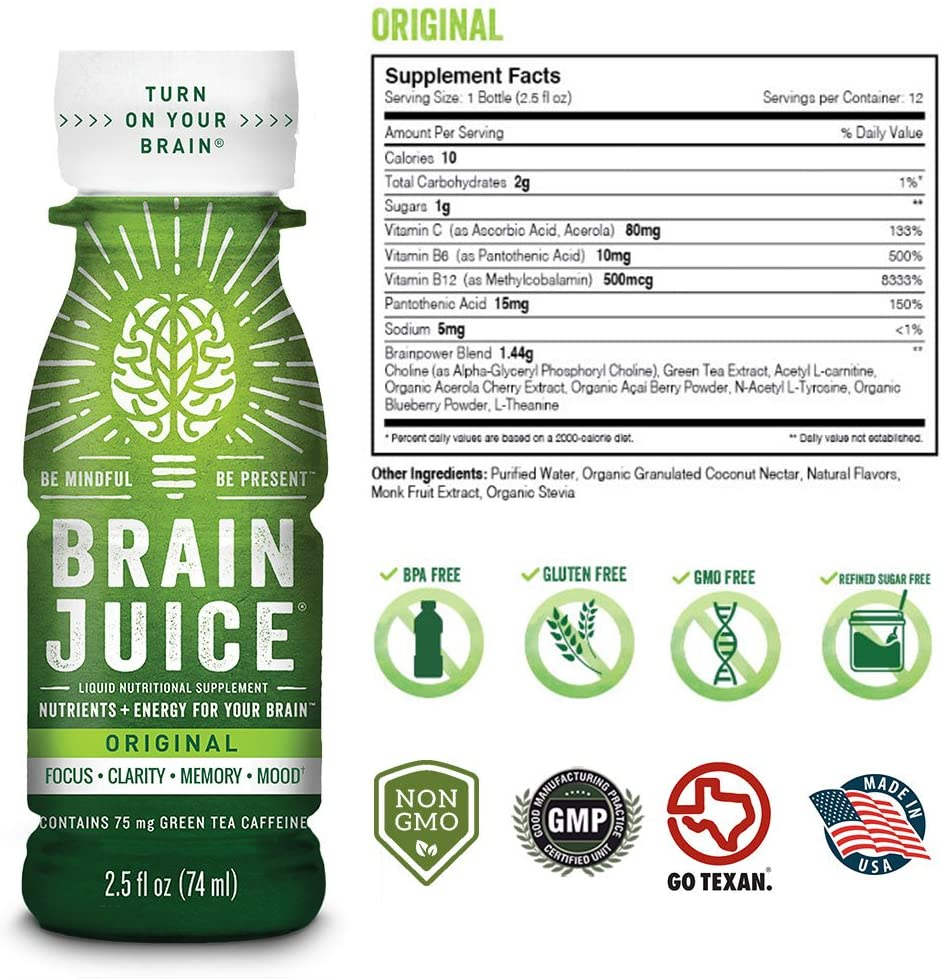 BrainJuice supplement facts
