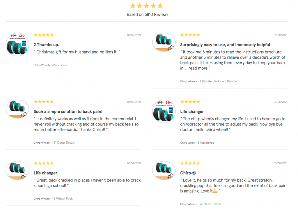 Chirp Wheel Customer Reviews