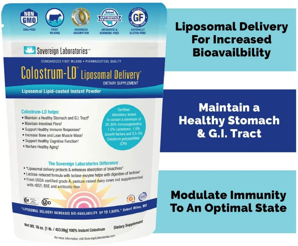 Colostrum LD (Liposomal Delivery), from Sovereign Laboratories