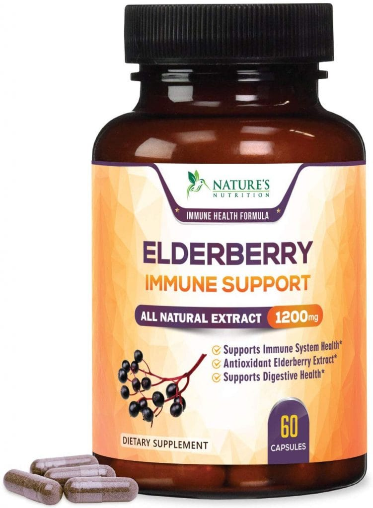 Elderberry Capsules Extra Strength from Nature's Nutrition
