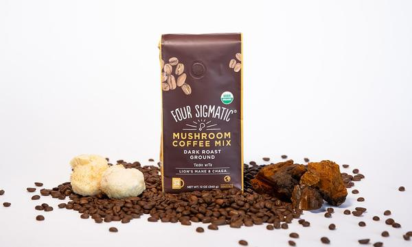 Four Sigmatic Mushroom Coffee with beans