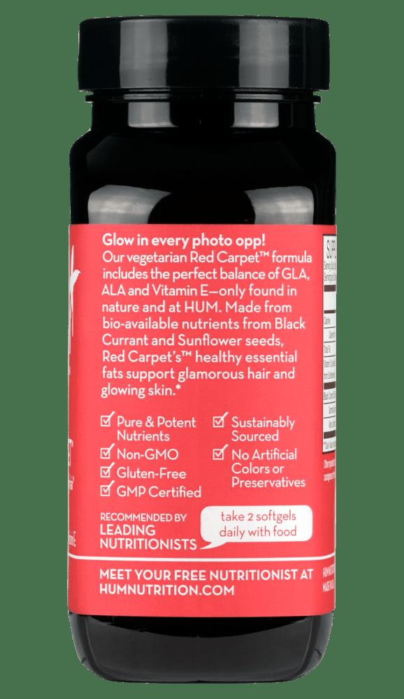 Hum Nutrition Red Carpet back label