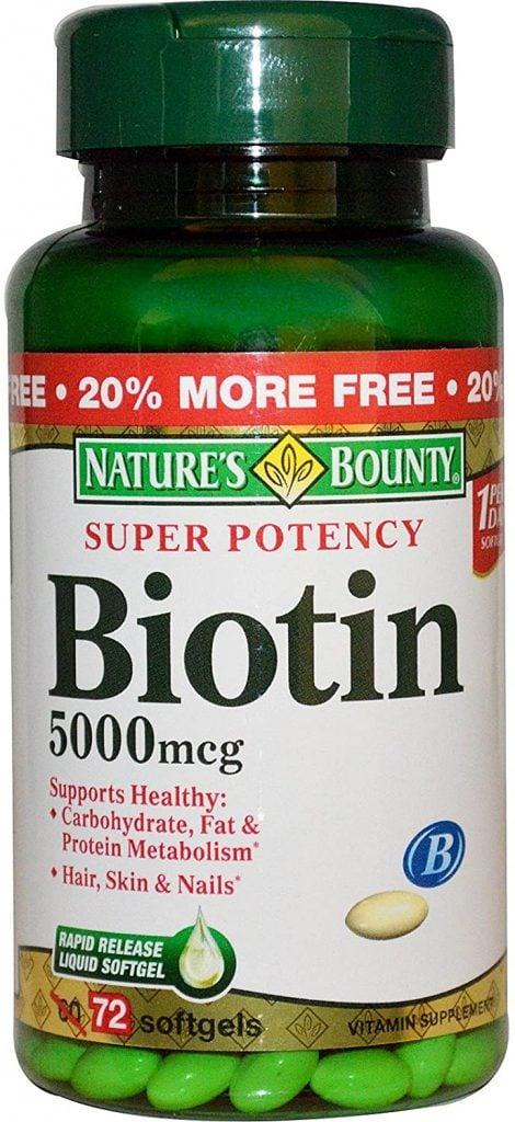 Nature's Bounty Biotin 5,000 mcg at Amazon ($14)