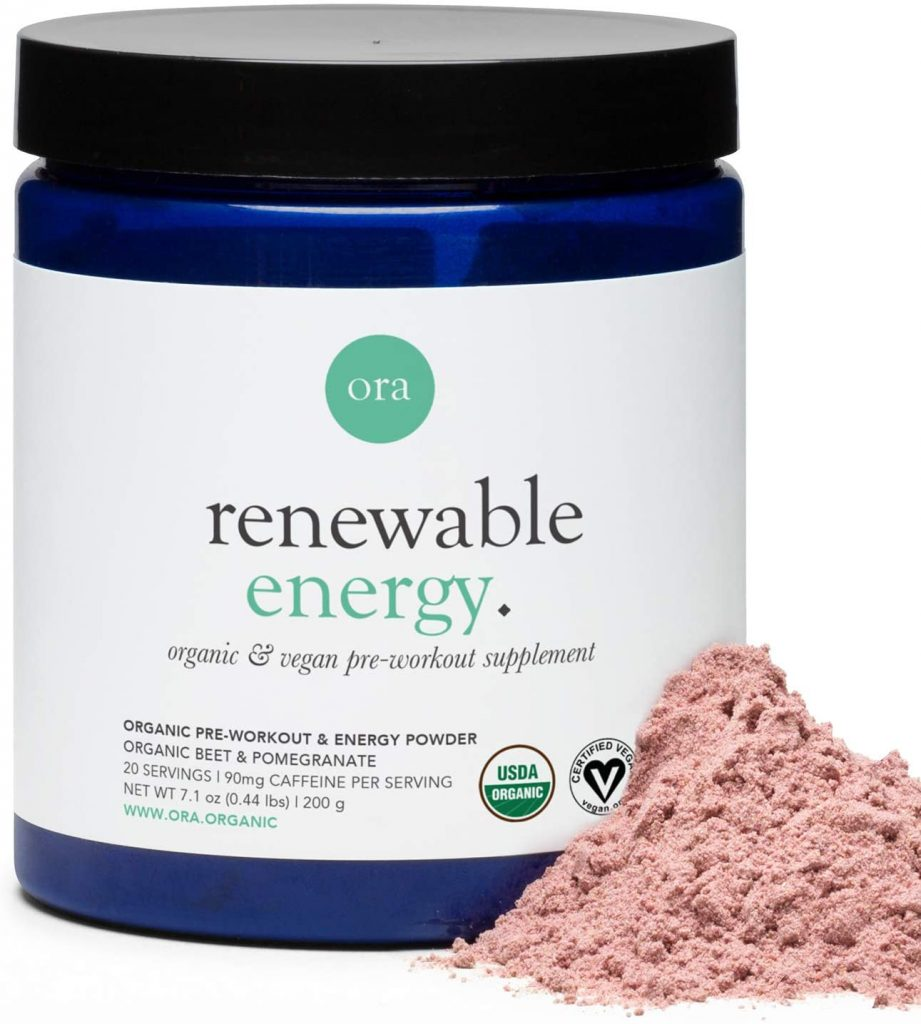 Ora Organic Renewable Energy Organic & Vegan Pre-Workout