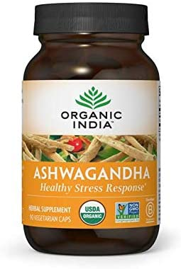 Organic India Ashwagandha Supplement, Healthy Stress Response
