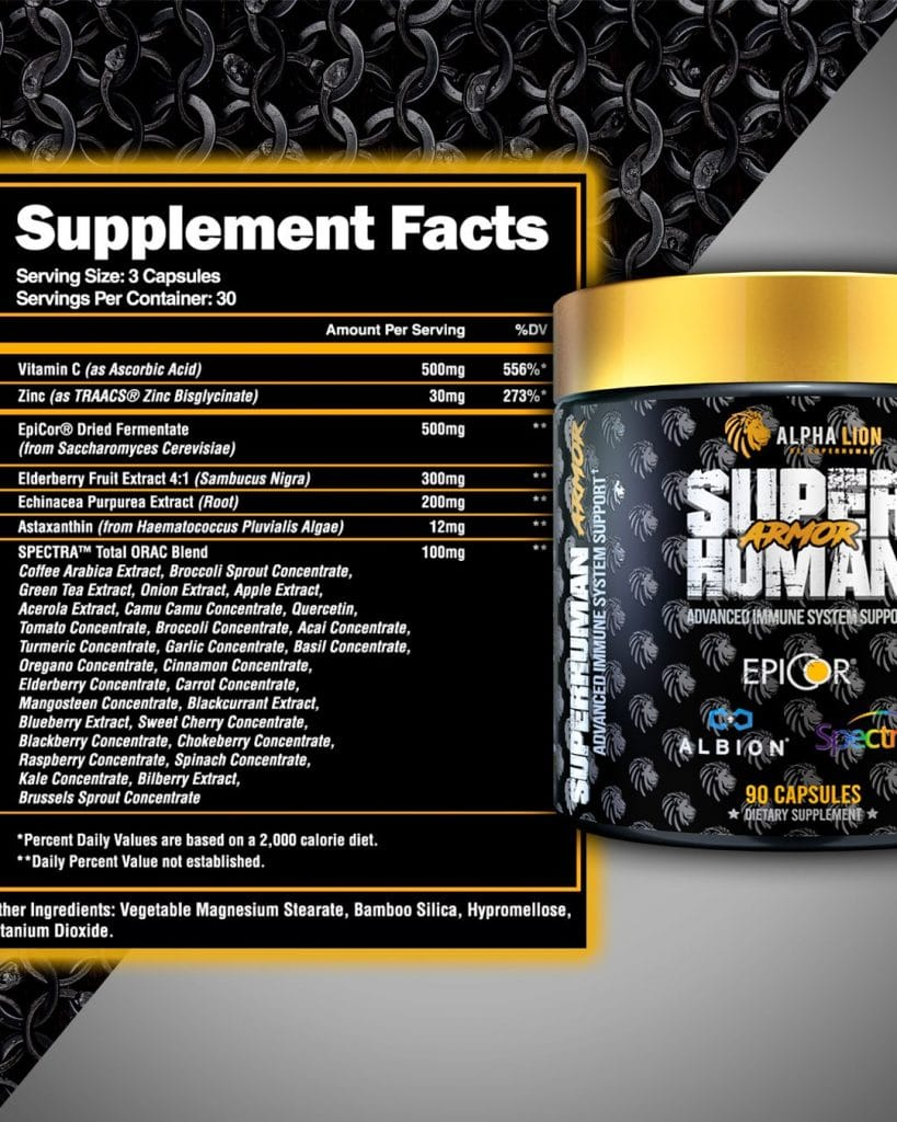 SUPERHUMAN Pre-Workout supplement facts and bottle