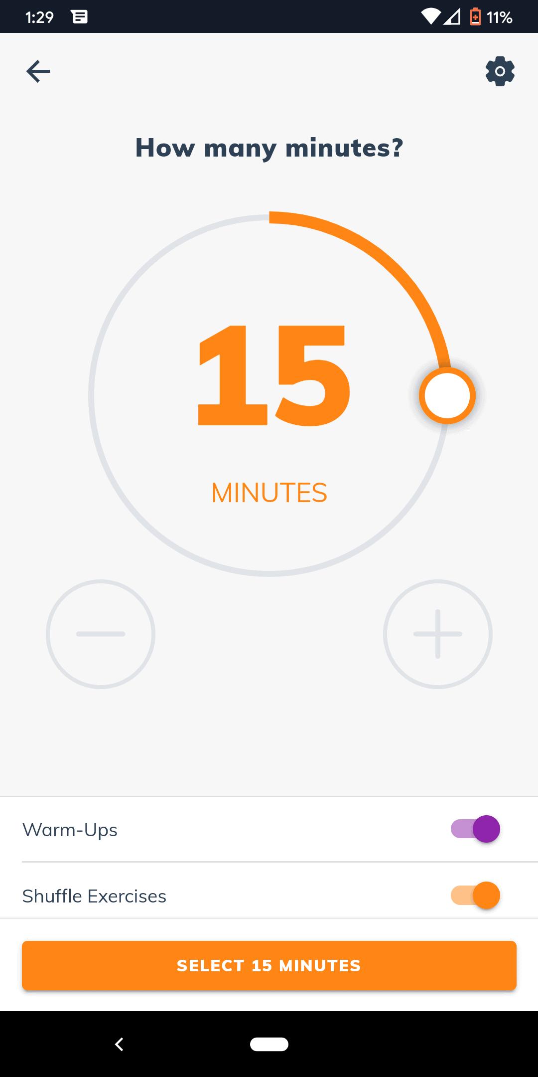 Sworkit Workout Length
