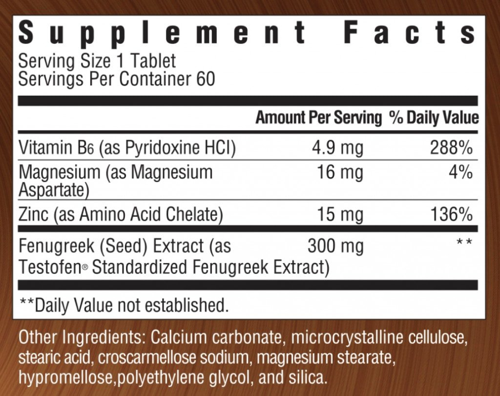 Ageless-Male Supplement Facts