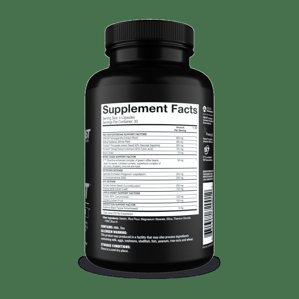 Beast Super Test supplement facts
